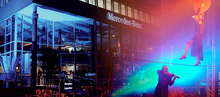 Inauguration du Garage Mercedes-Benz de la Marbrerie à Carouge