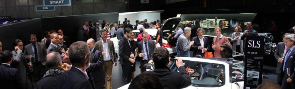 Soirée Mercedes-Benz AMG au Salon International de l'Automobile de Genève.
