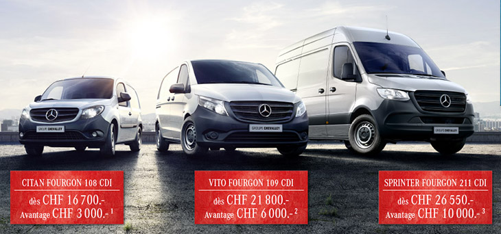 Avantages Mercedes STAR DEAL sur Sprinter, Vito & Citan
