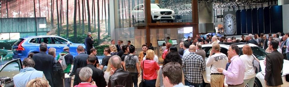 Soirée de présentation du Volvo XC60 au Salon de l'Auto de Genève