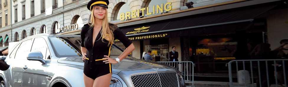 Bentley Genève partenaire de l'inauguration de la boutique Breitling