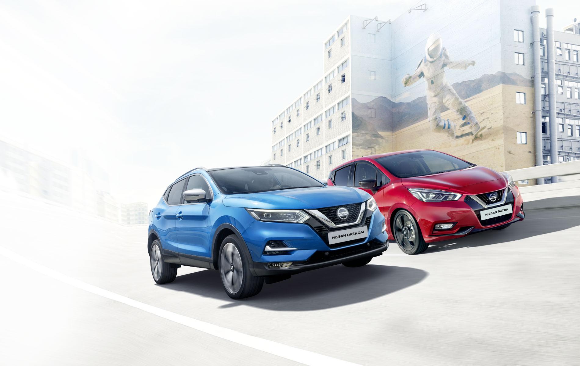 Offre Nissan Qashqai et Micra boîte automatique