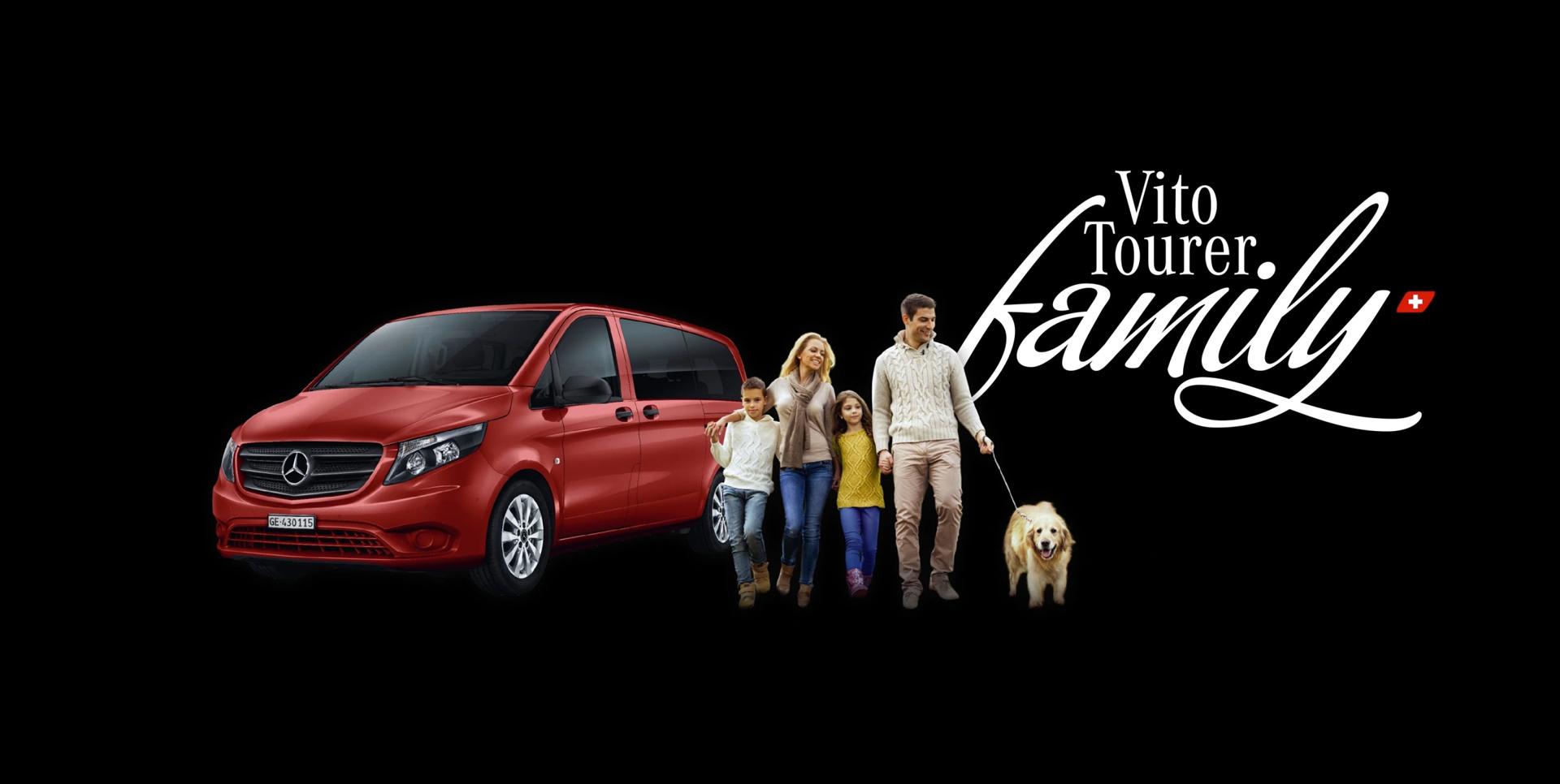 Votre Vito Tourer family dès CHF 249.-/mois