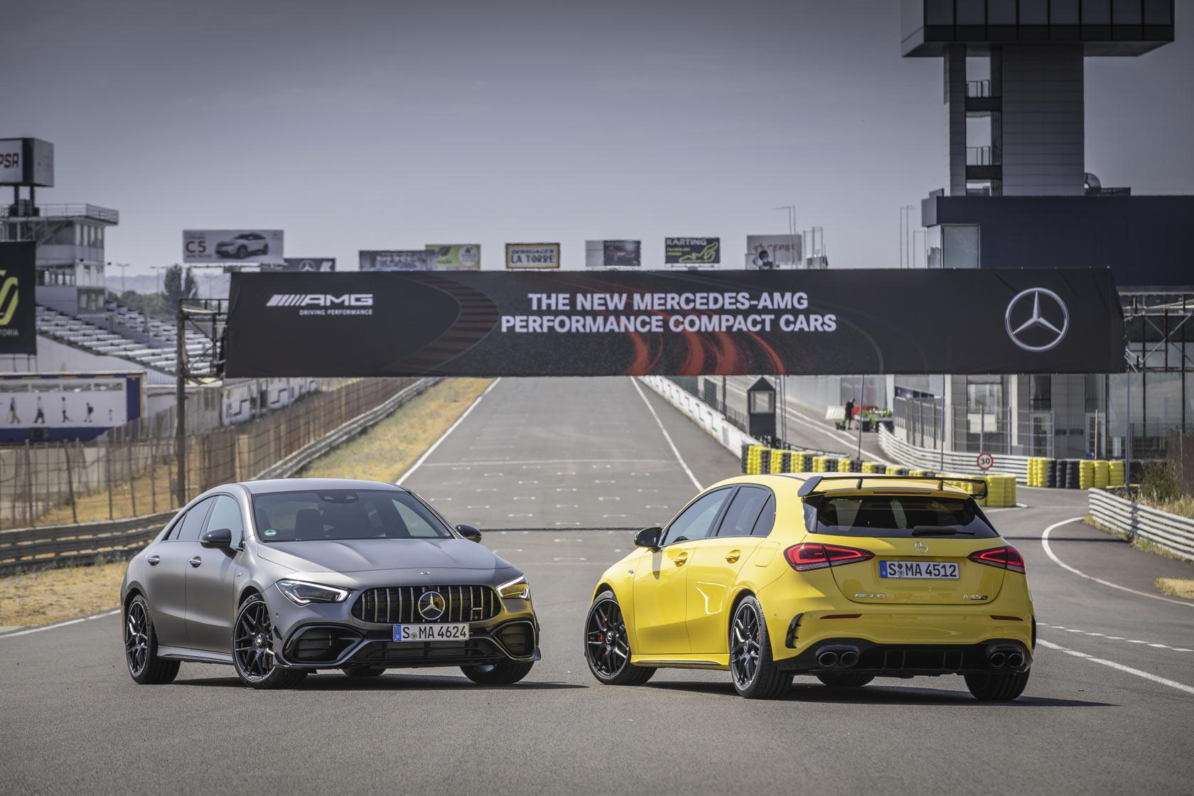 Les Mercedes-AMG A45s et CLA 45 s au circuit de Jarama : Trajectoire Magazine