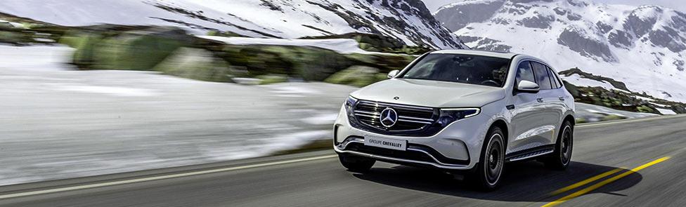 Essai trajectoire EQC Mercedes Benz