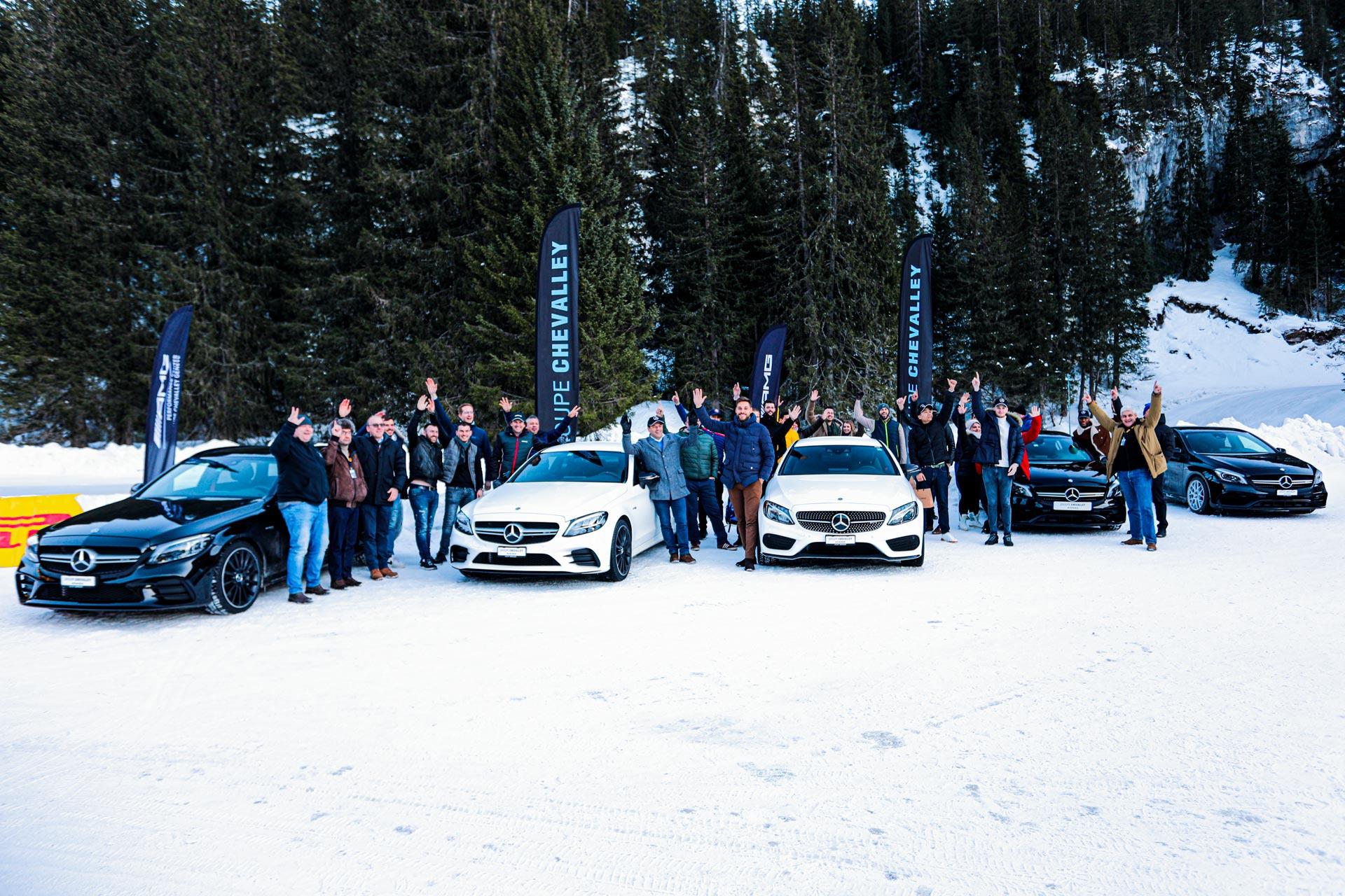 Mercedes Winter Driving Event 2020 - Circuit Glace de Flaine
