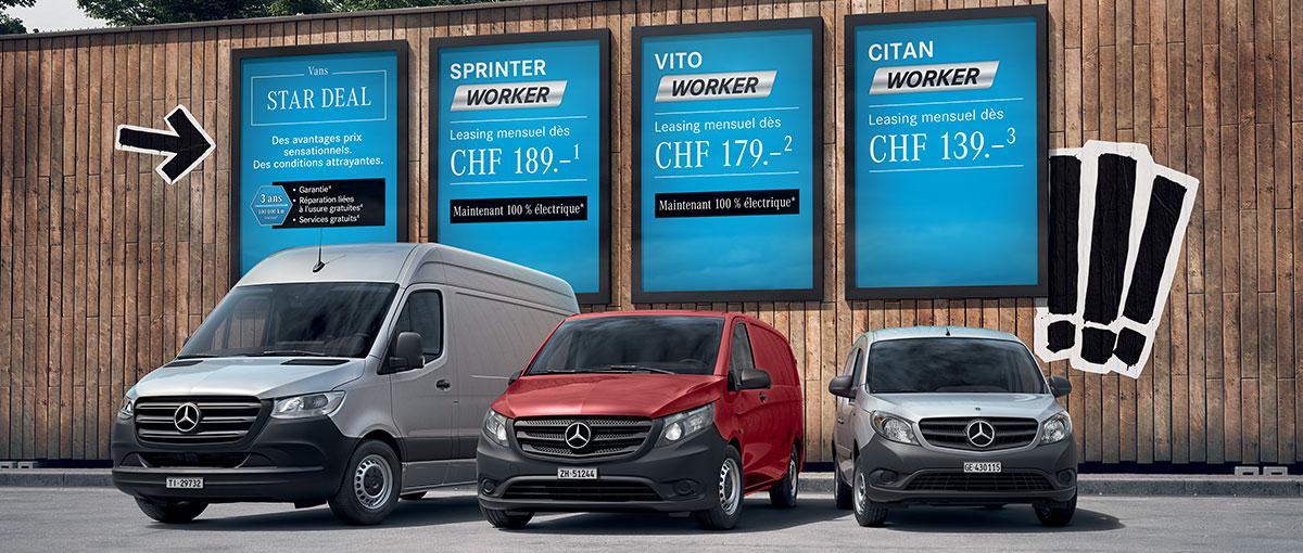 Offres sur nos Utilitaires «Worker» Mercedes-Benz