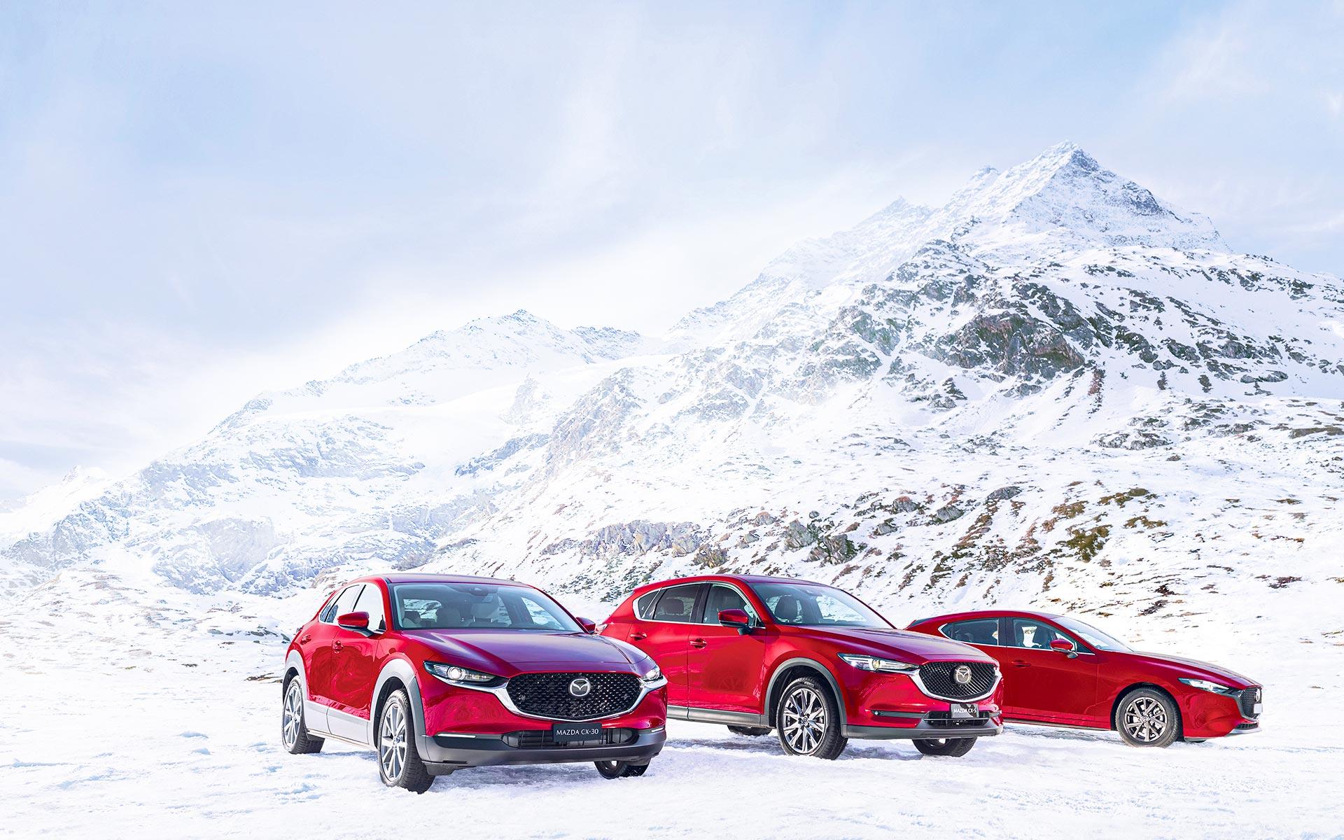 Offre Mazda 4x4 offert sur Mazda CX-5, Mazda CX-30 et Mazda3